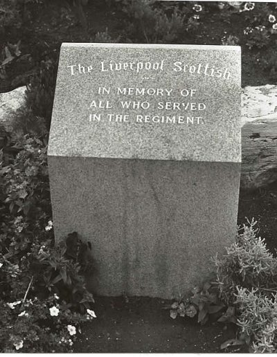 Liverpool Scottish Memorial Stone