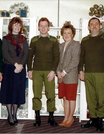 CFI with SSgt Lock, Aileen Christie, LCpl Cunningham, Fiona Pop