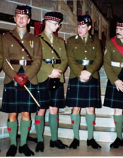 CSgt Molyneux and the Officers 1-51 Highland - P 92