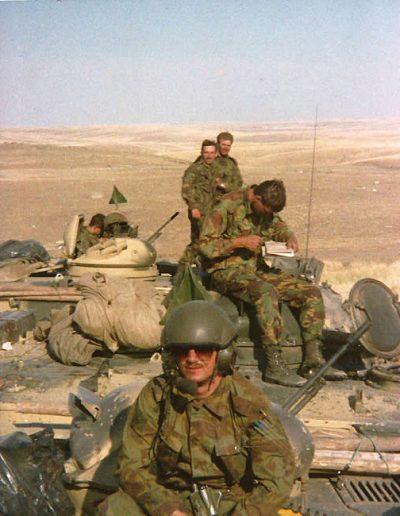 P 168 - B Coy Cpl Walker and Lt Adams