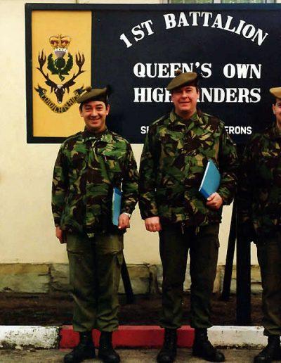 SSgt Moffat, AQMS McLoughlin and CSgt Duncan. Lt Col GCM Lamb