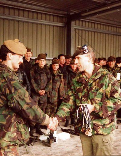 SSgt Moffat, AQMS McLoughlin and CSgt Duncan. Lt Col GCM Lamb 1