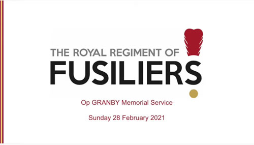 Memorial Service to commemorate Operation GRANBY